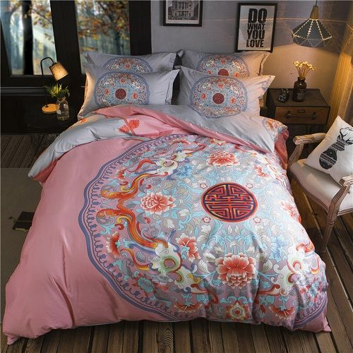Beauty and Classics Bedding Sets Comforter/Duvet Cover 4pc 100% Cotton Queen Size