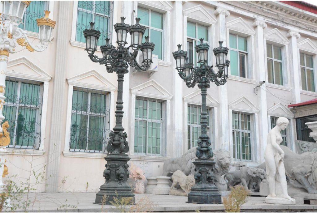 Cast iron street lights metal lamps