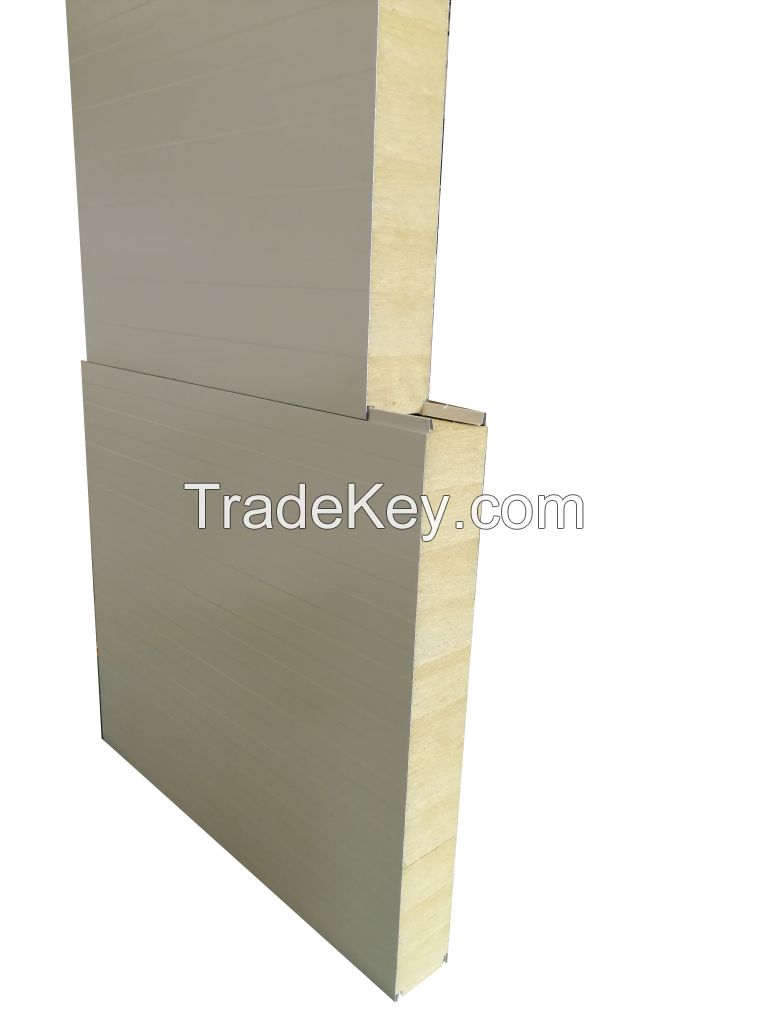 rock wool and PUR PIR sandwich panel of heat insulation