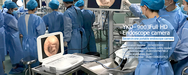 YKD-9003A2 Portable medical endoscope for ENT with cold light LED source 35W