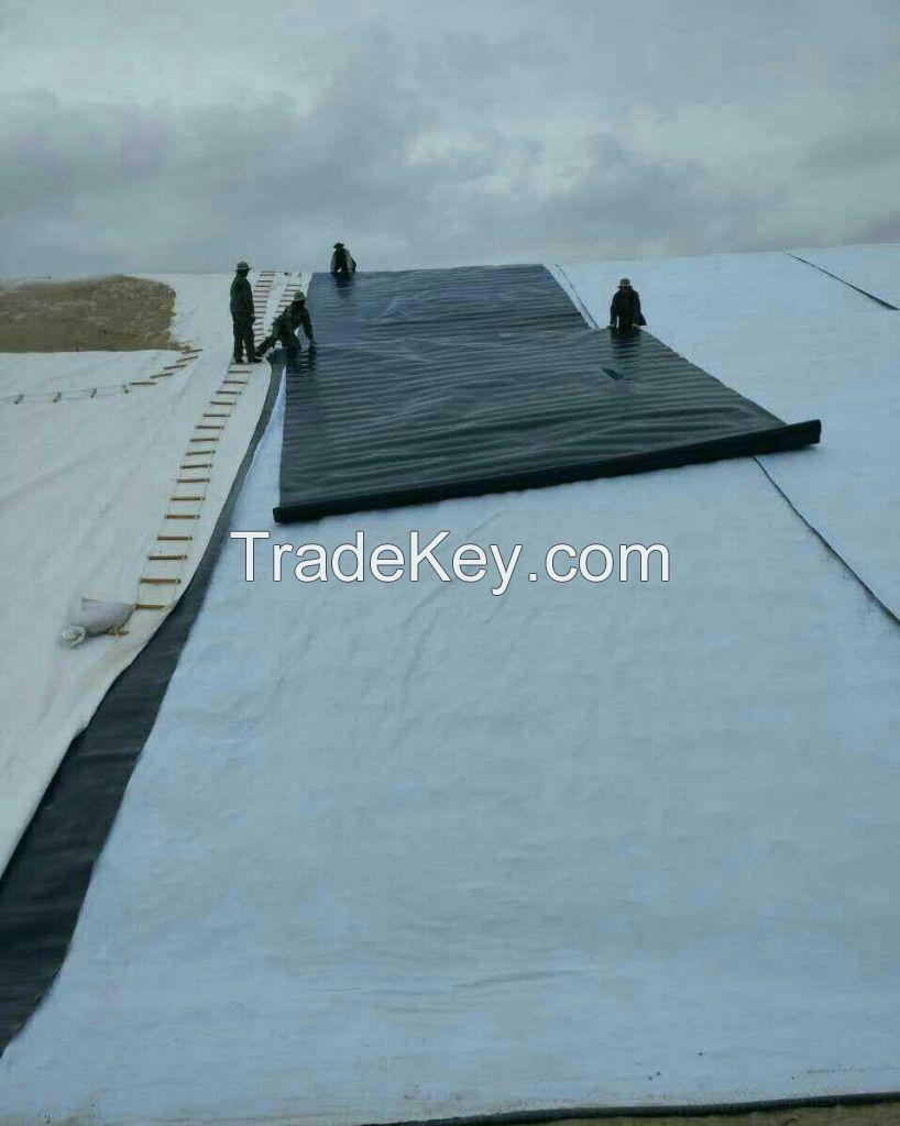 Non woven polypropylene/polyester geotextile for earthwork