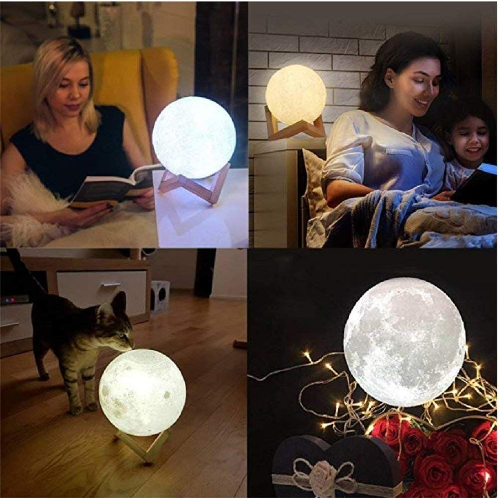 Personalized Photo Night Light | Customized 3D Printing Moon Light USB Charging Moon Night Lamp