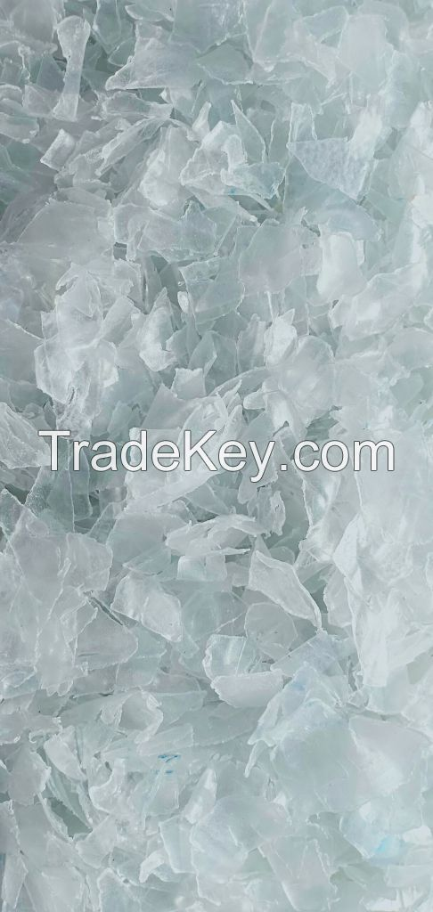 manufacturer specification High quality Hot washed 100% clear PET bottle scrap /