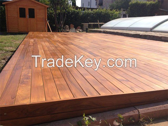 Decking wood boards