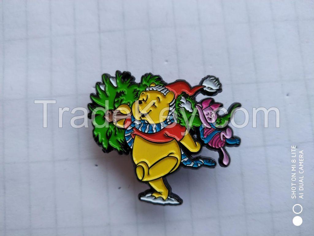 Customizable soft enamel bear pin
