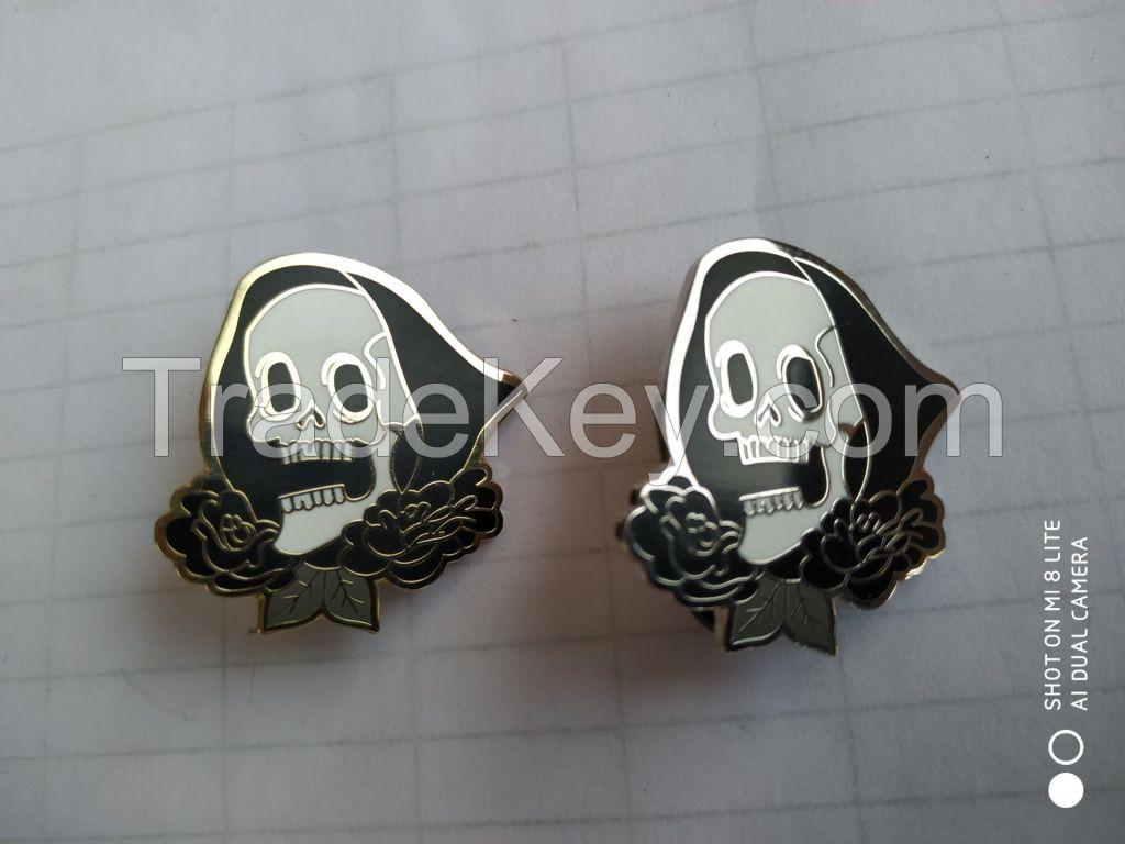 Customizable Hard enamel skull pin