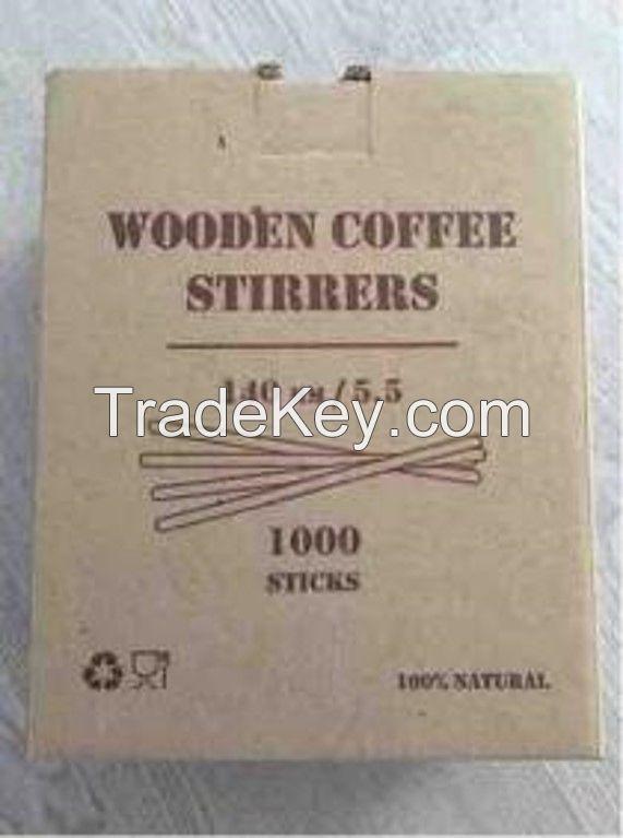 Wooden stirrers