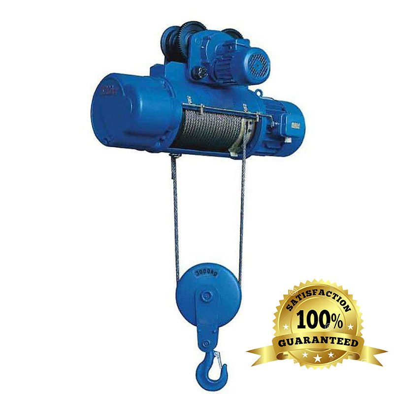 2t electric hoist lifting height 9m power supply 220v double speed steel wire rope electric hoist