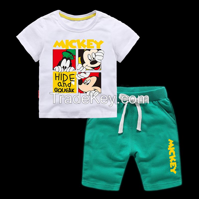 Meh Printed Loose Cotton Children's Vest Suit Baby Clothes