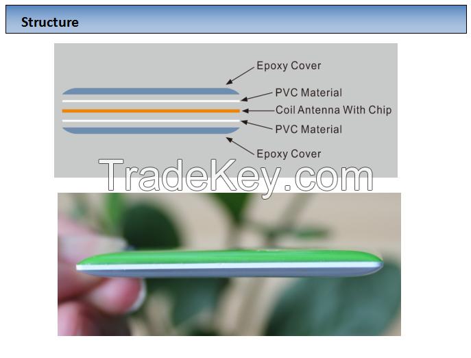 RFID Topaz512 13.56MHZ NFC mini keychain epoxy tag