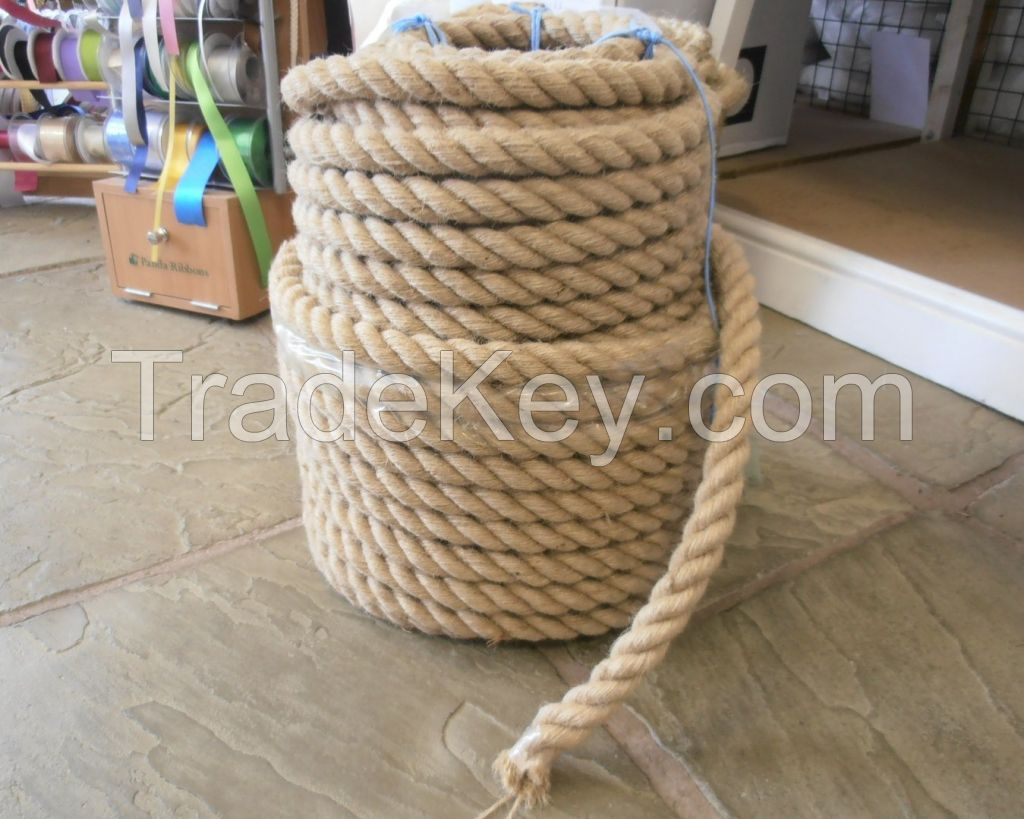 5-60mm Sisal Rope Twist Sisal Cordage Natural/Bleached White for Pets, Oilfield, Marine , Civil Use , Jute Rope Jute Twisted Cord 100% Recyclable 3~60MM  coconut fiber