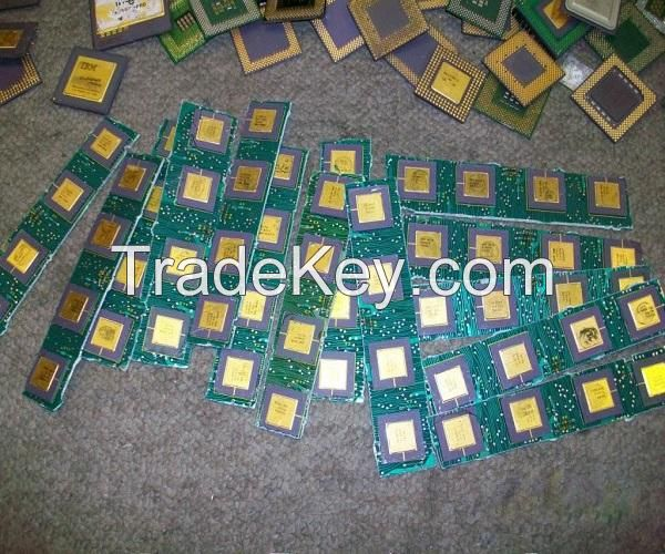 Ceramic cpu scrap for gold recovery and scrap motherboards available..//
