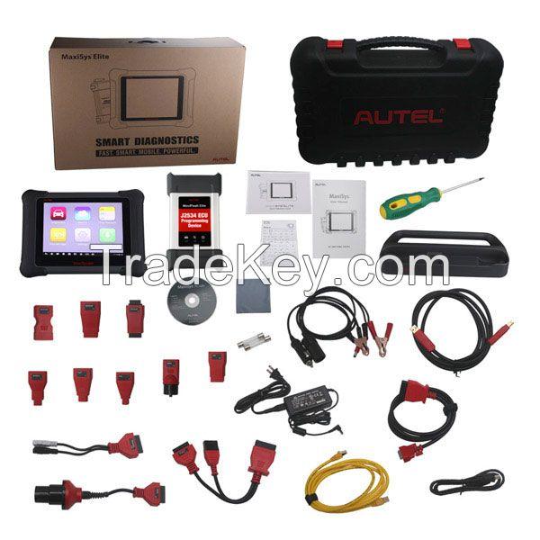 Autel MaxiSYS Elite J2534 ECU Key EPB Reprogram OBDII Diagnostic Tool+Free MV108