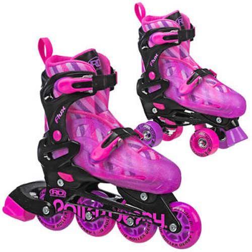 Girls Roller Derby Flux Inline /quad Interchangeable Skate