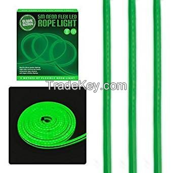 Global Gizmos 5 Metre LED Neon Flex Decorative Rope Light - Green