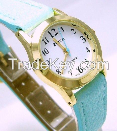 Ravel Ladies Polished Round Case Mint Strap Watch R0122.11.2