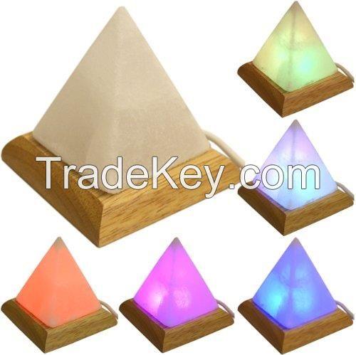 USB Salt Pyramid Lamp.