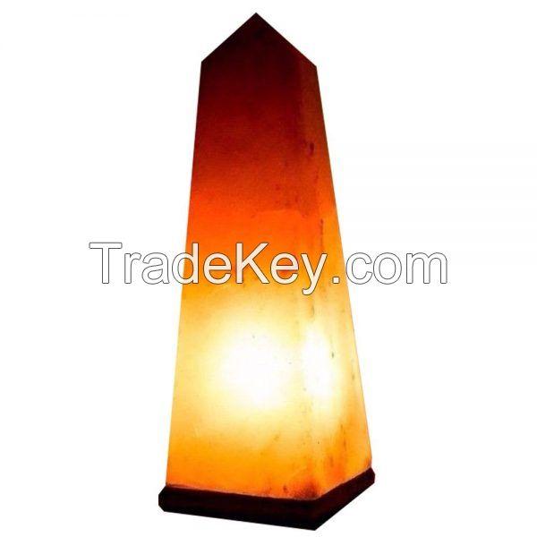 Salt Obelisk Lamp.