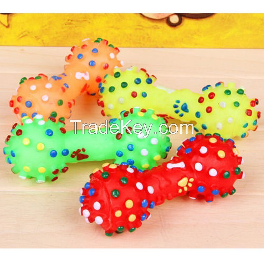 Lovely Pet Dog Puppy Cat Chews Toy Squeaker Squeaky Sound Play Toys JD