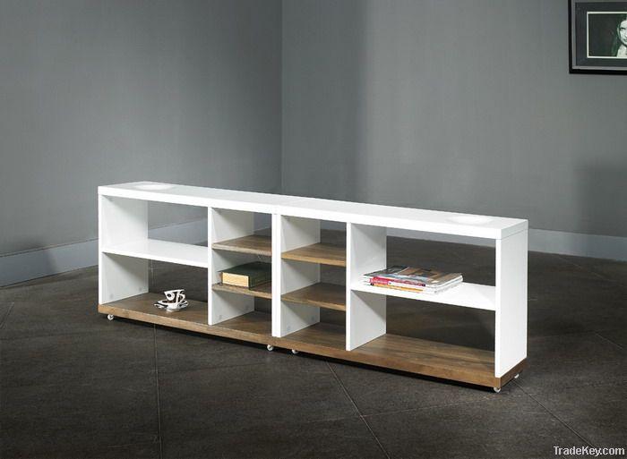 wood living room set, coffee table, cabinet, rack,