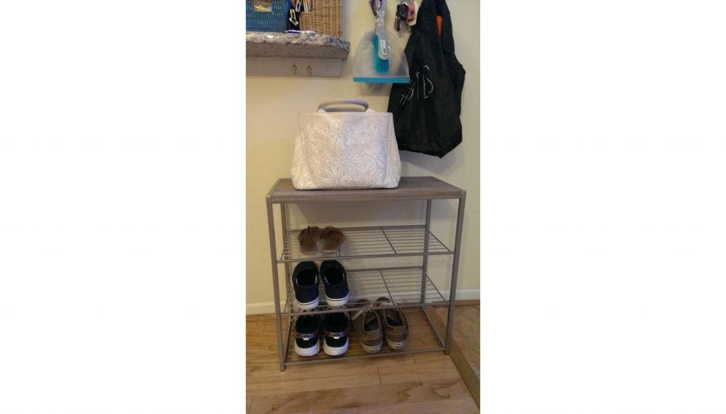 4 Tiers Shoe Rack with Wood Top Board