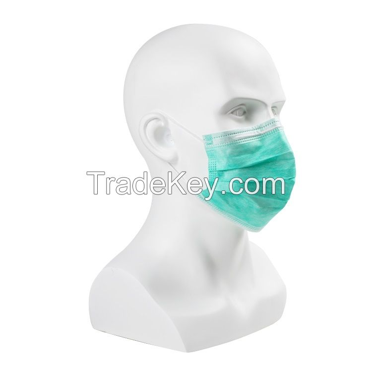 FDA 510K Disposable Hospital Custom Surgical Mask, 3 Ply Surgical Face Mask