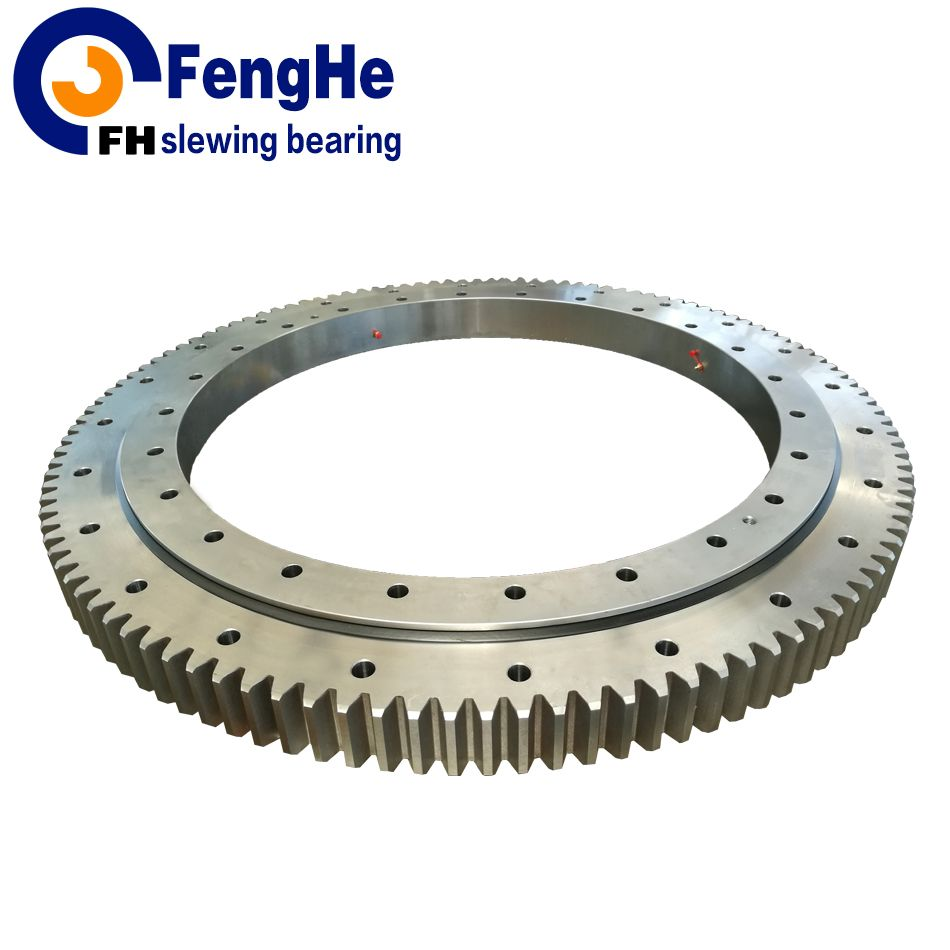 Single-row four point contact ball slewing bearing