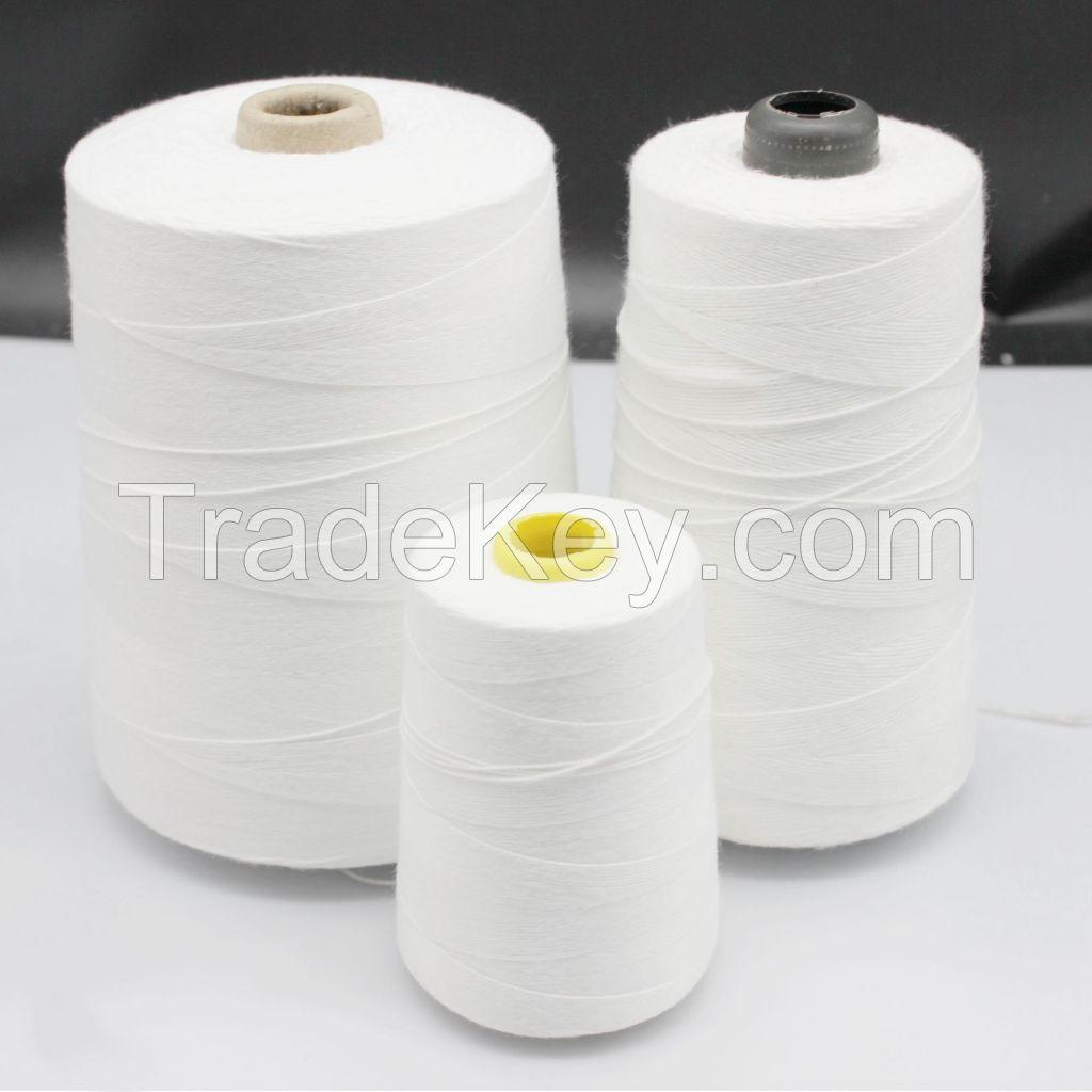 20S/6 100% spun virgin polyester bag closing thread for rice bags