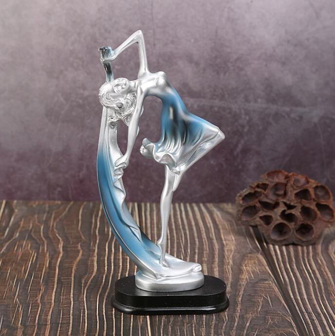 Popular resin dancing girl figurines crafts