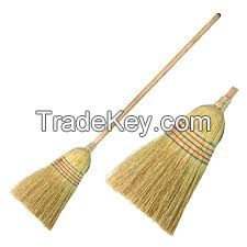 sorghum broom with stick
