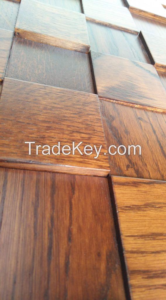 Wall panel wood blue