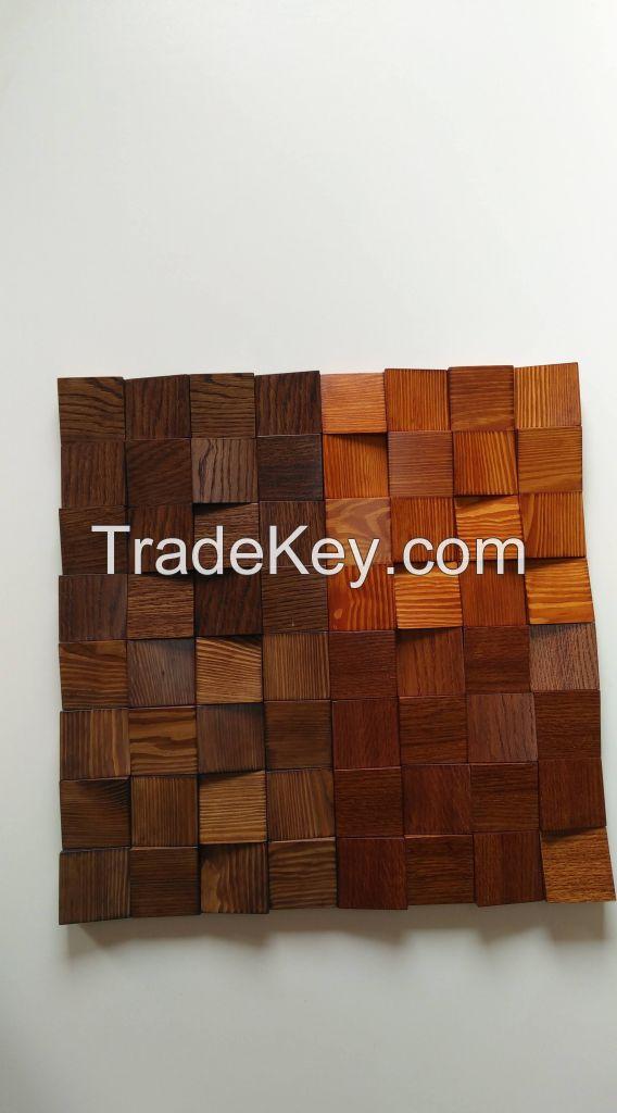 Wall panel wood rock