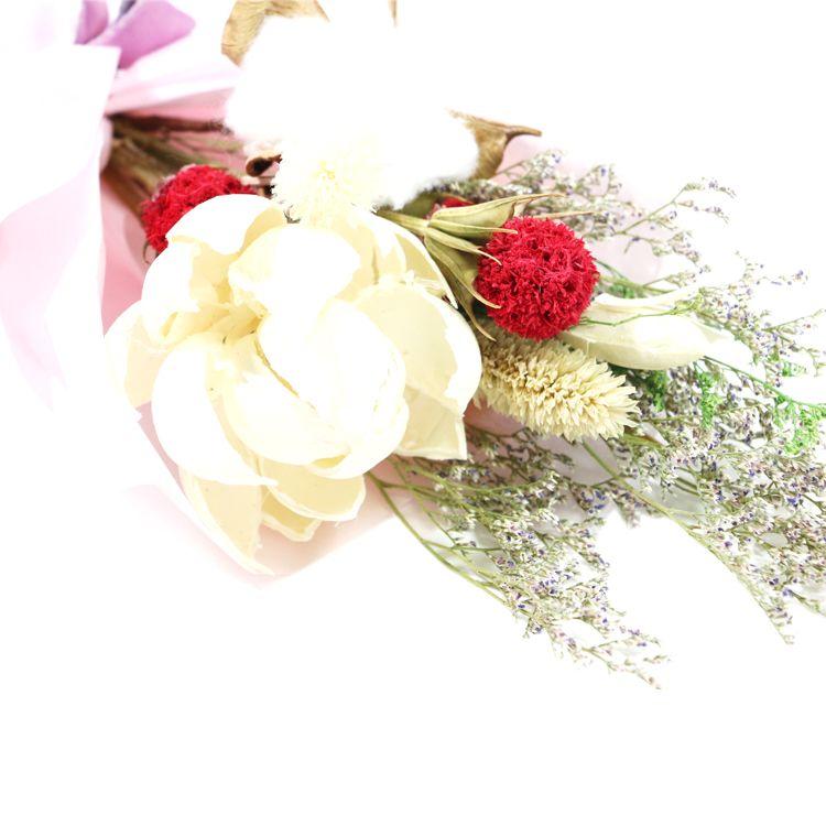 DIY multichoice delicate big size dried flowers collocation bouquet