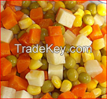 canned mix vegetables and sweet corn with nutrition