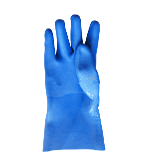 PVC coat industrial worker working safety gloves