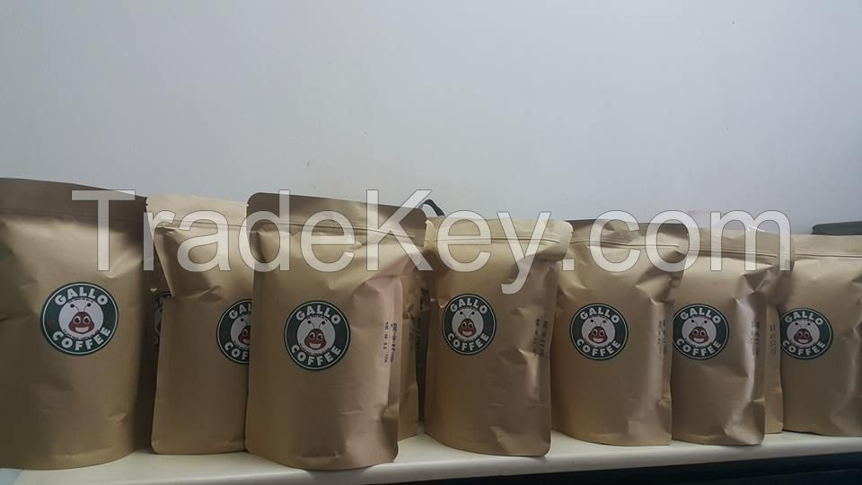 GALLO COFFEE- ROASTED BEAN AND GROUND COFFEE