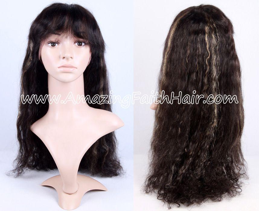 U-Part Gluess Lace Wig