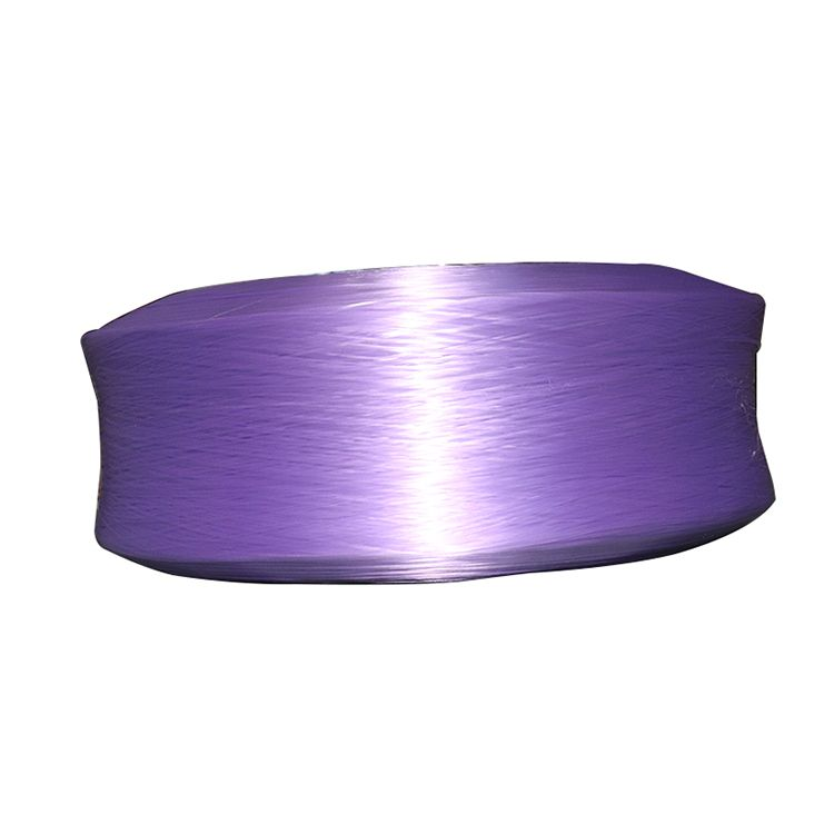 popular polyester dope dyed color spun raw white yarn thread wire fdy/poy/dty AA high quality