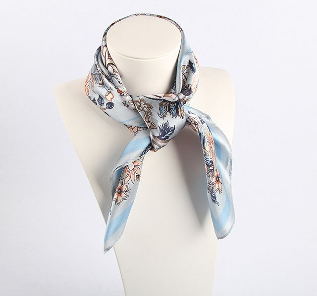 Digital Printing 100% Silk Scarf Square Ladies Silk Scarf