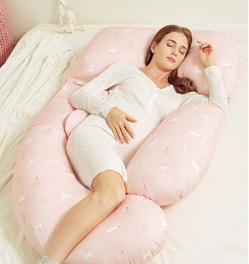 Breathe freely memory foam body pillow for pregnant woman