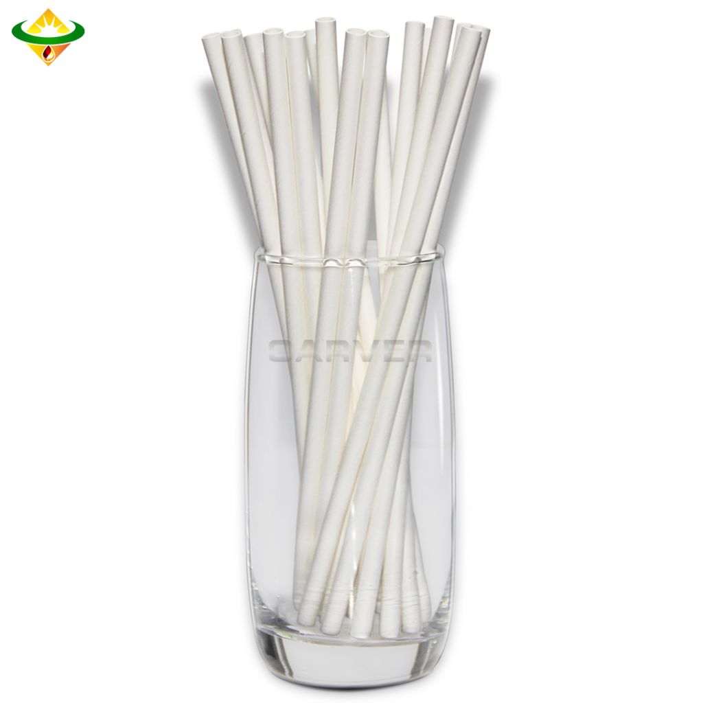 Biodegradable OEM Pointed Flexible Paper Straws