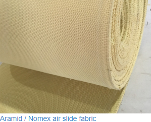 Polyester filament air slide fabric