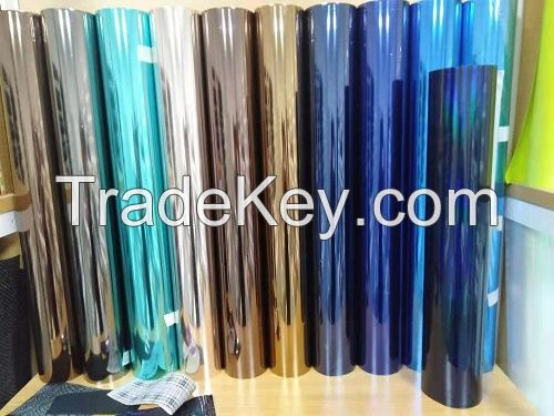 Electroplating polyester film
