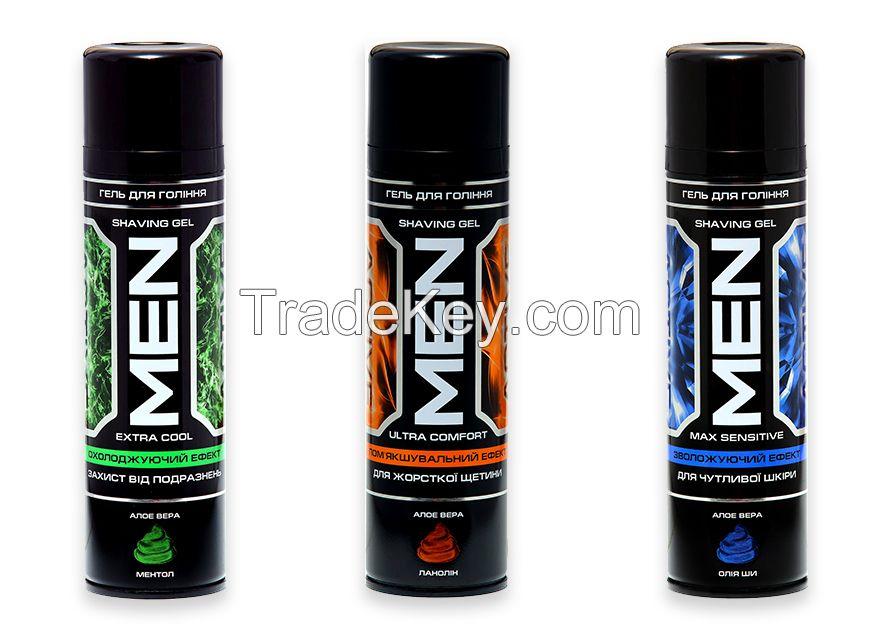 Shaving Gel  series GLADKOFF_220ml, series MEN ACTIVE_220ml
