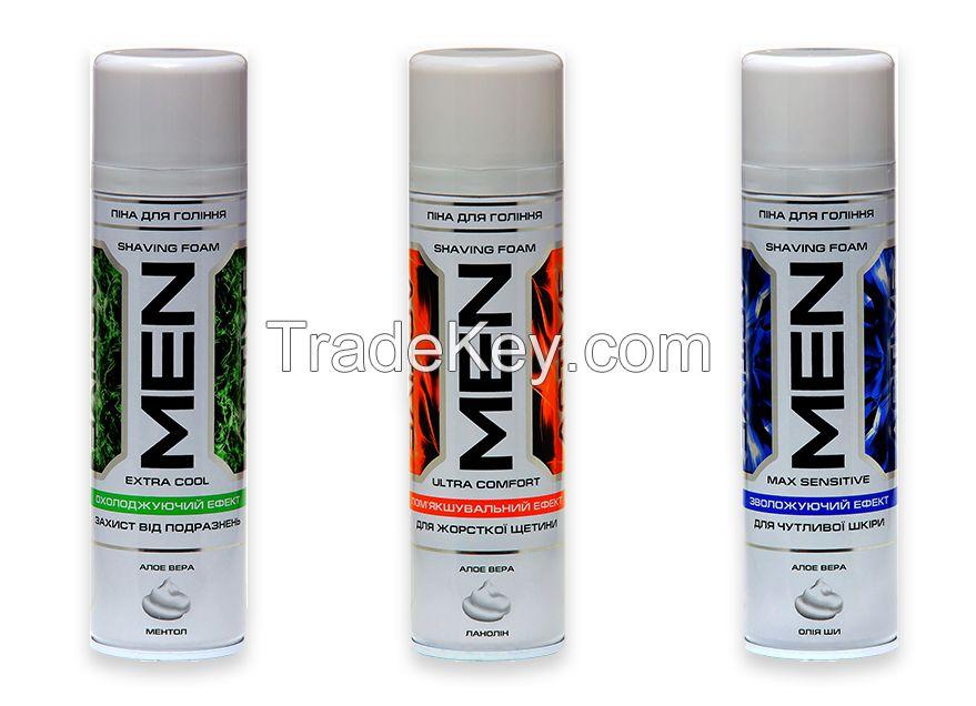Shaving foam series GLADKOFF_220ml; series  MEN ACTIVE_220ml
