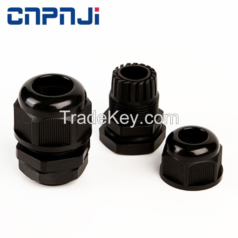 PG7 Black Waterproof Connector nylon cord grip Gland Grommet 4-8mm Dia Cable UL US