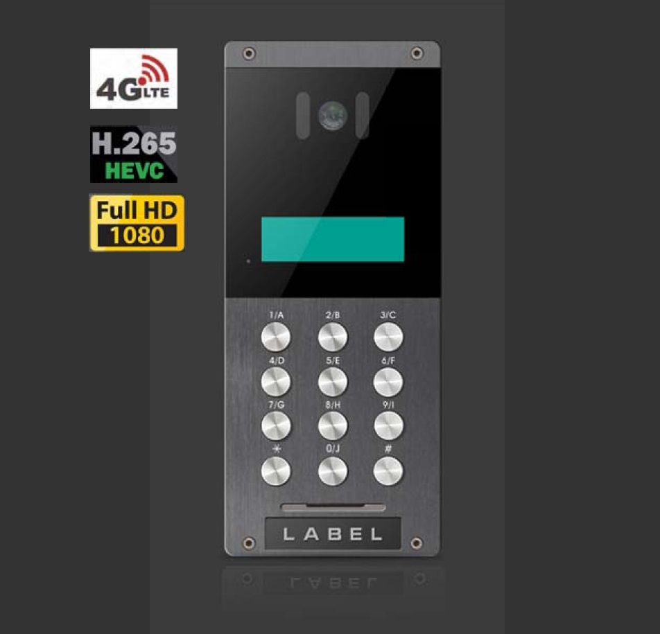1080P 4G LTE Video Door Phone with iOS and Android APP, SIM card, H.265+ video, Multi Apartments