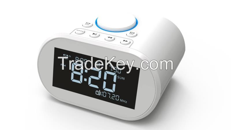 Bluetooth speaker digital alarm clock with charger