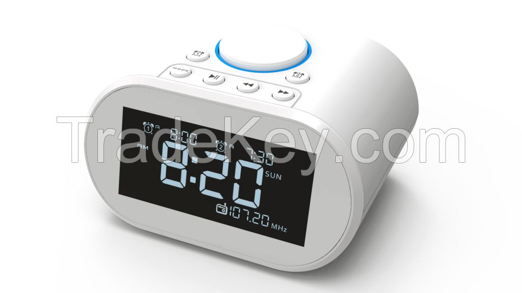 Bluetooth speaker with alarm clock and usb charging