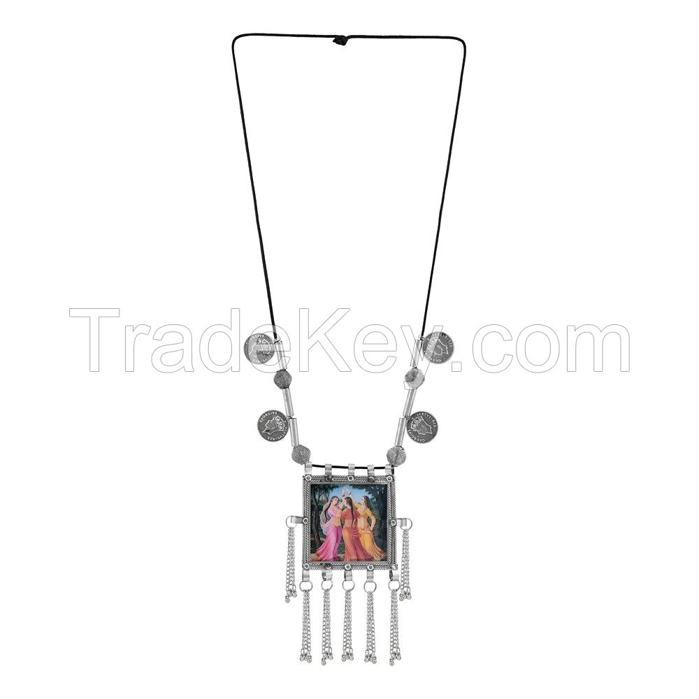 Long Tribal Afghani Beads Necklace
